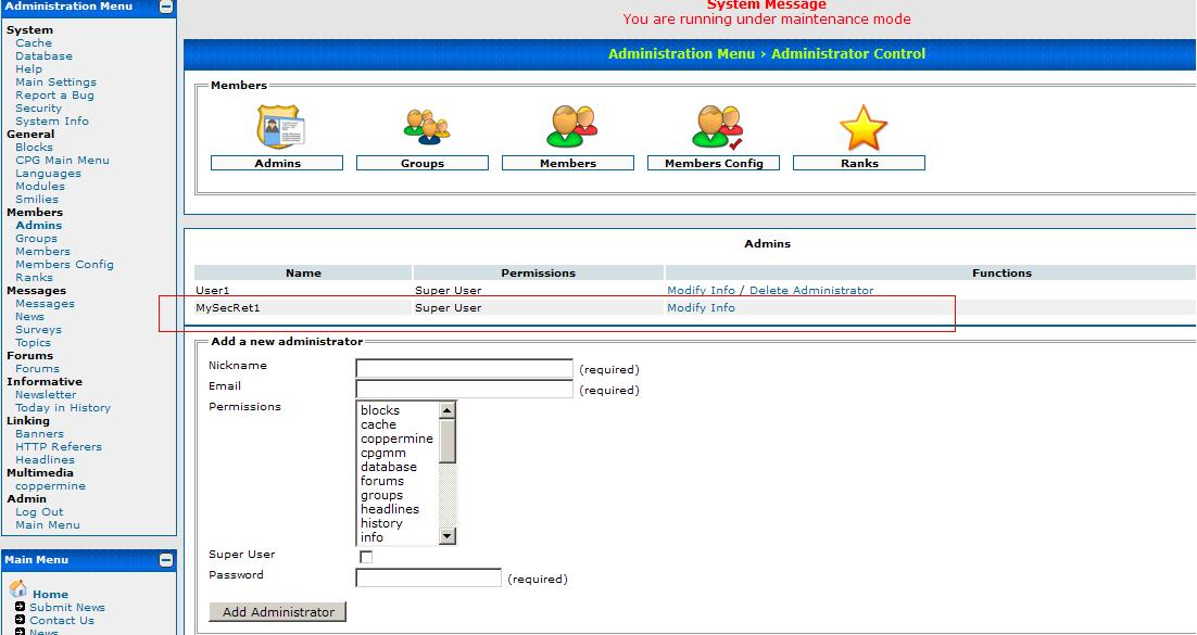 Dragonfly CMS Admin Demo