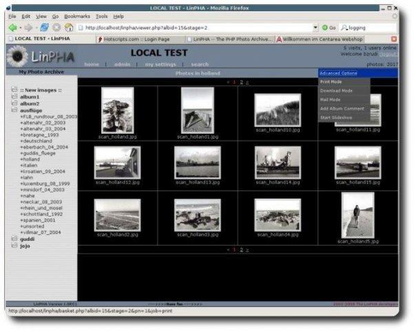 LinPHA Demo Site