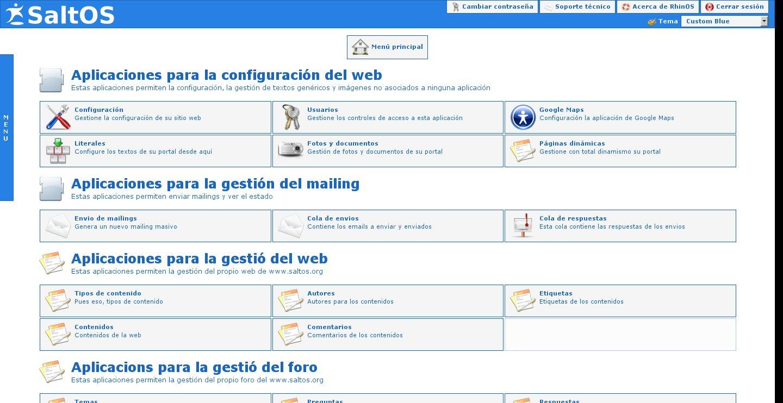 RhinOS CMS Admin Interface