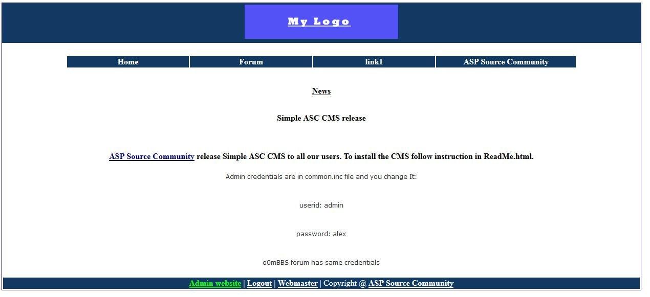 Simple ASC CMS Demo Site