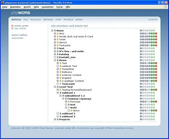 phpwcms Admin