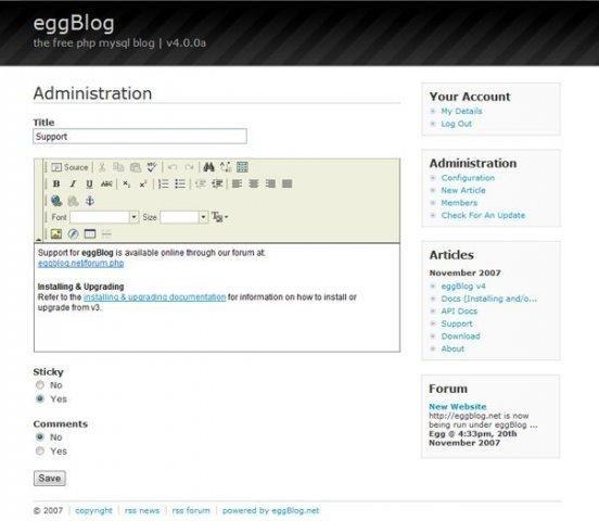 EggBlog Demo Backend