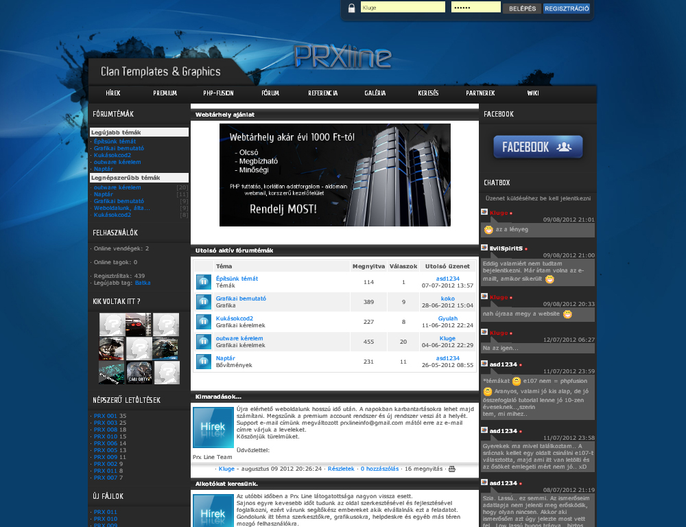 PHP Fusion Theme Example