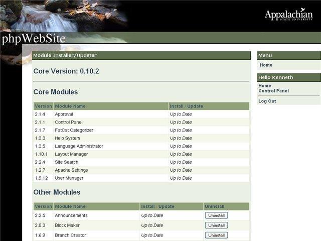 phpWebSite Modules