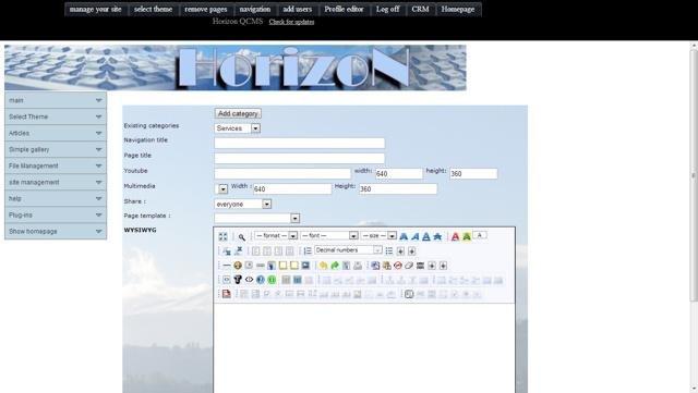 Horizon QCMS Admin Demo