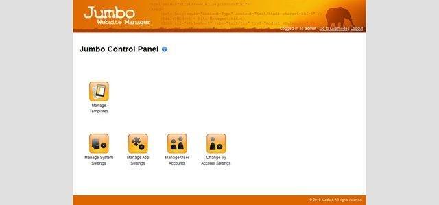 Jumbo CMS Admin Interface
