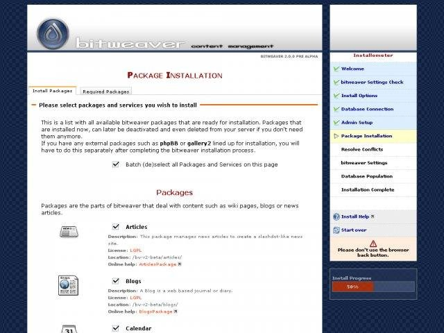 Bitweaver CMS Demo Installation