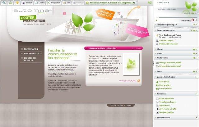 Automne CMS Theme Example