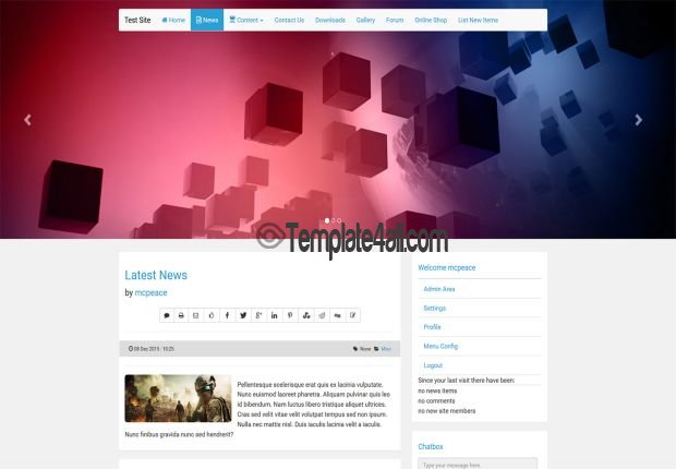E107 Bootstrap CMS Theme Preview