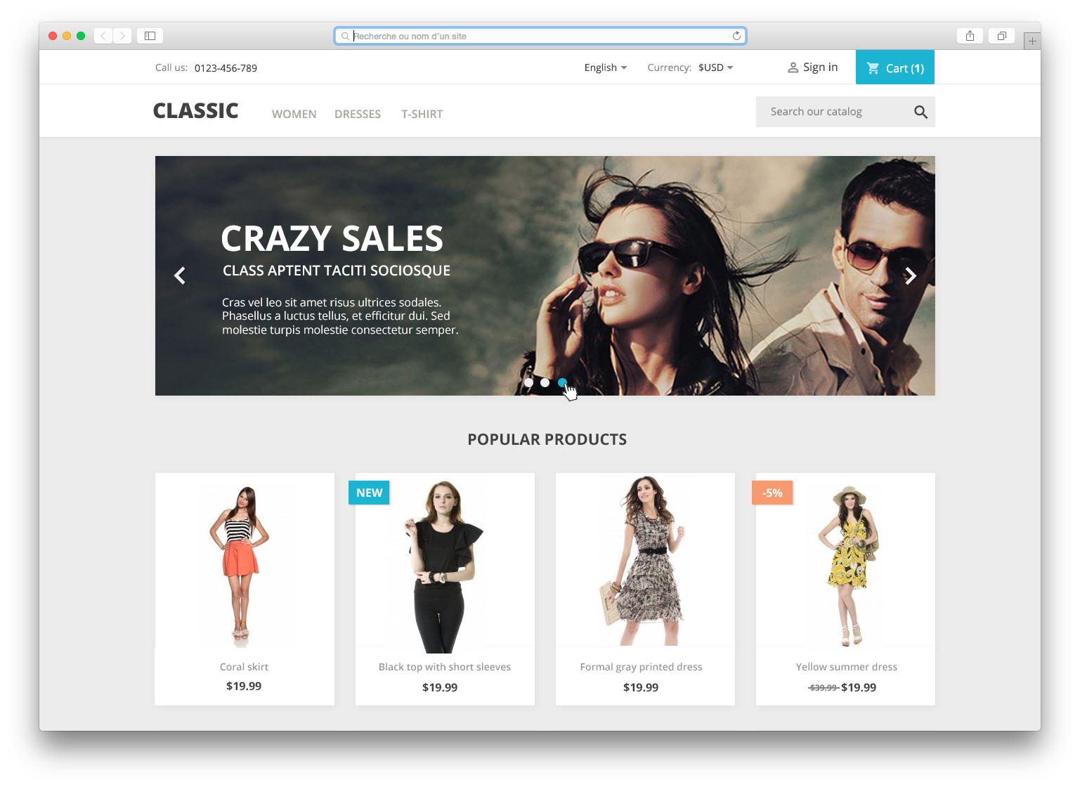 Prestashop 1.7 Theme Example