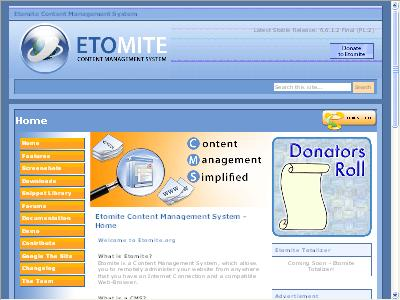 Etomite CMS Demo Site