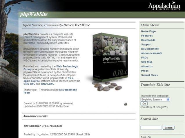 phpWebSite Demo Site