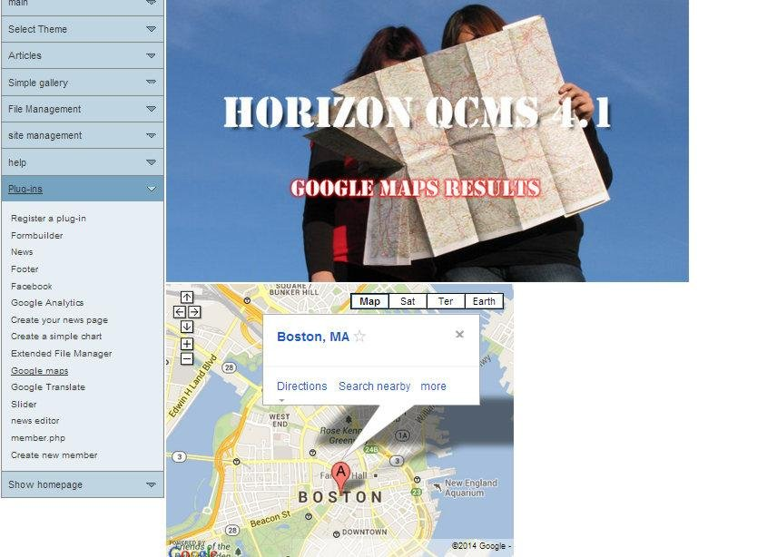 Horizon QCMS Demo Site
