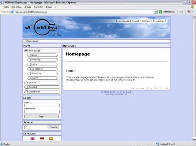DBHcms Demo Site