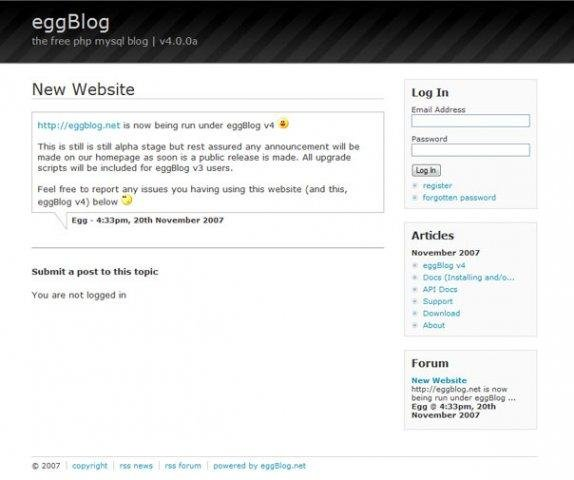 EggBlog Demo Site