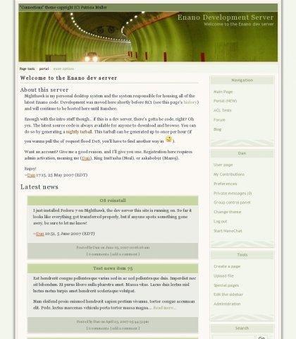Enano CMS Demo Main Page