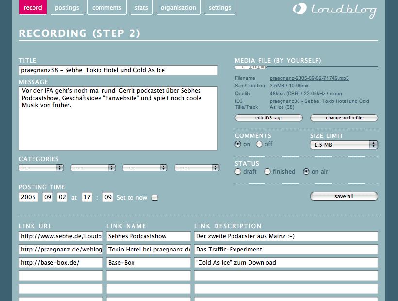 LoudBlog CMS Options