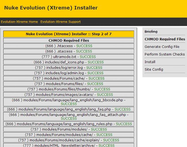 Nuke Evolution-Xtreme CMS Installation 2