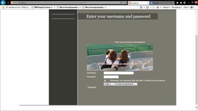Horizon QCMS Login Screen