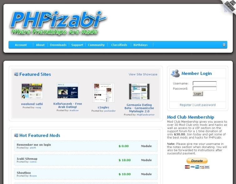 Phpizabi Demo