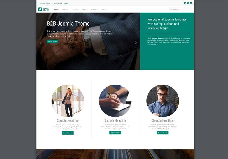 Joomla Theme Example
