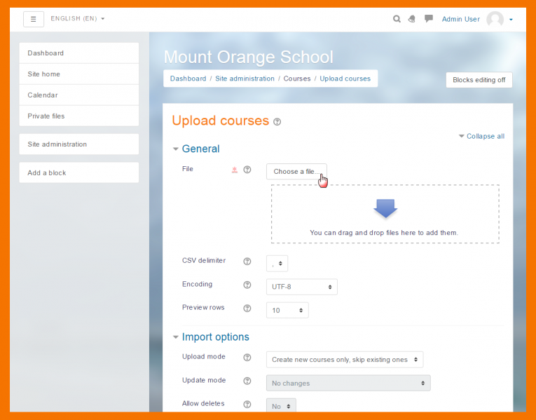 Moodle Features - Add New Course