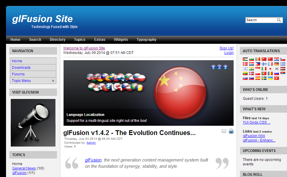 GlFusion Demo Site