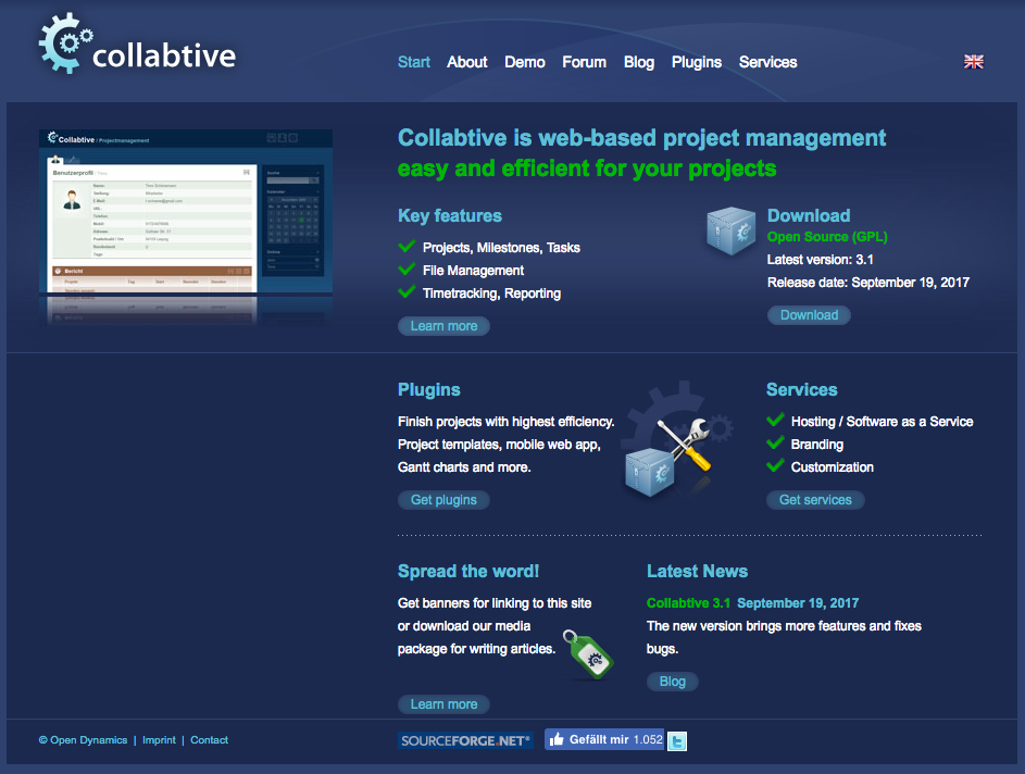 Collabtive demo preview