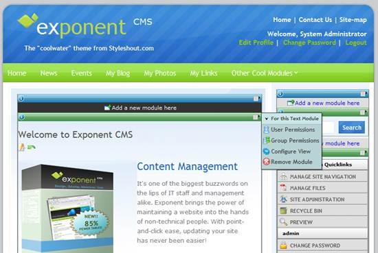 Exponent CMS Demo