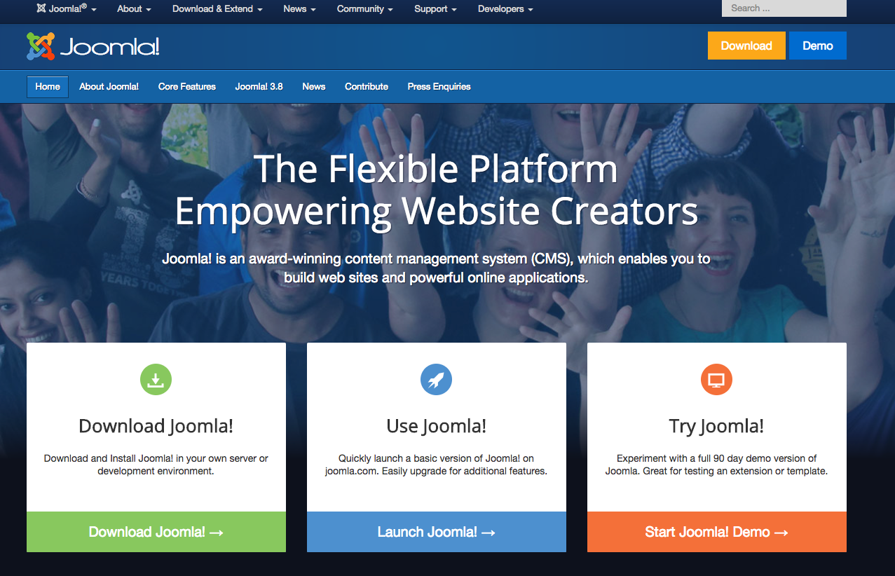 Joomla Demo Preview