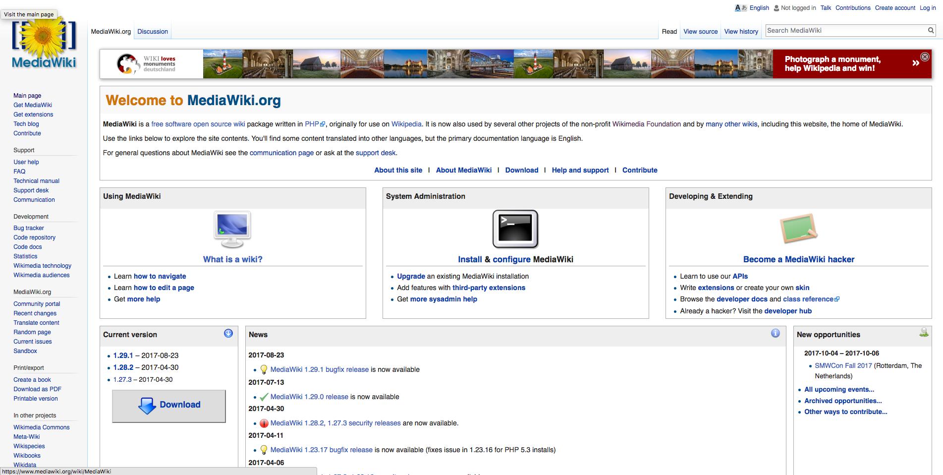 MediaWiki demo preview