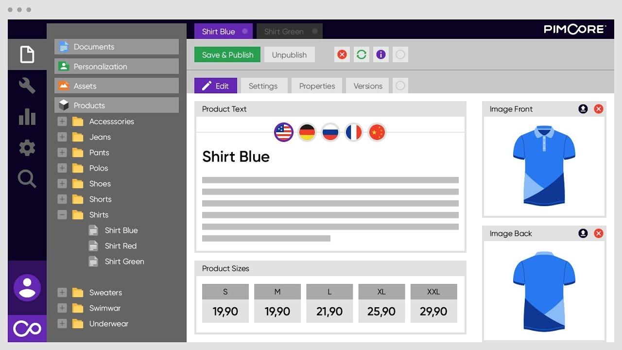 Pimcore product information management