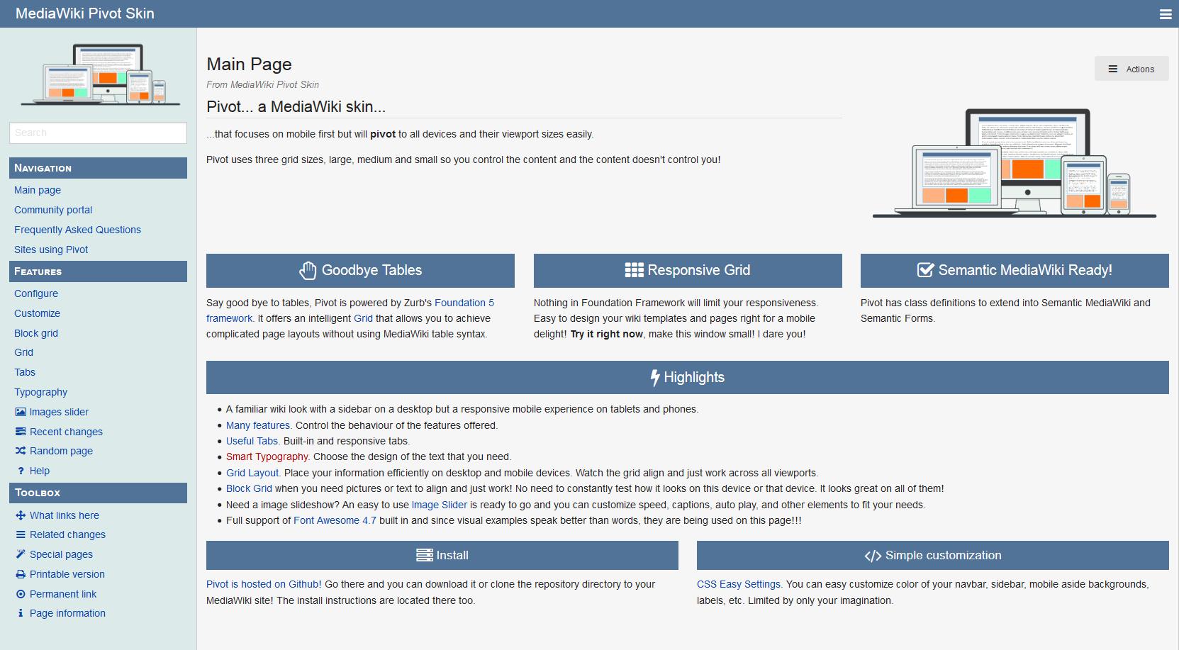 Media Wiki Theme Preview 3