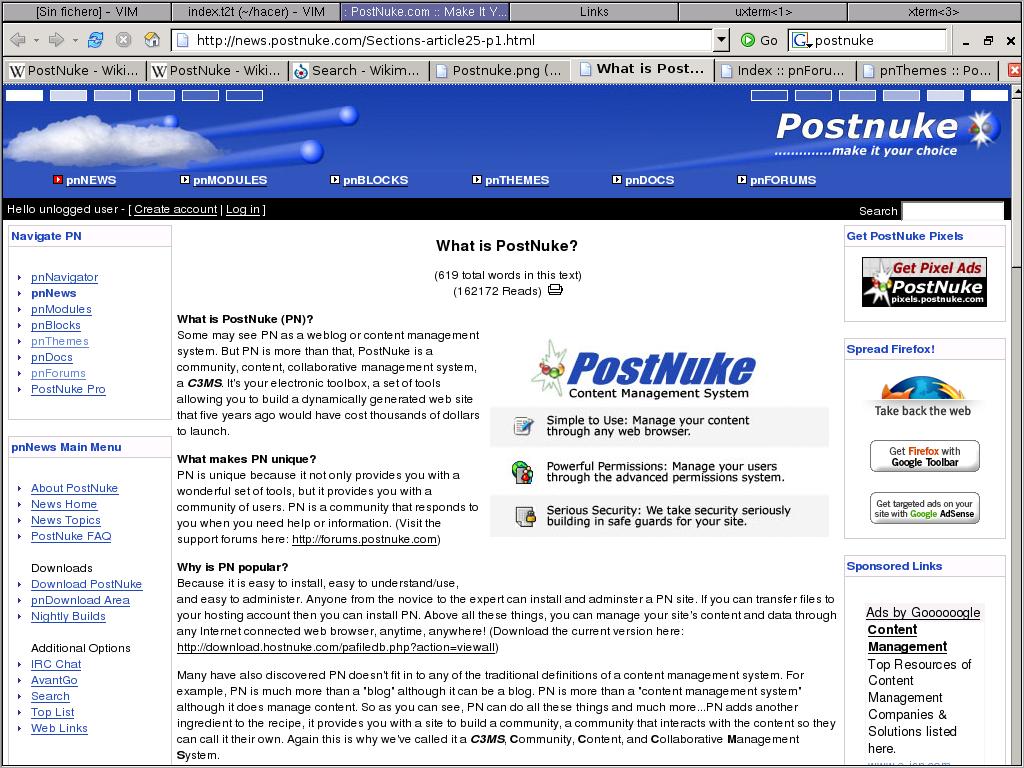 Postnuke online demo