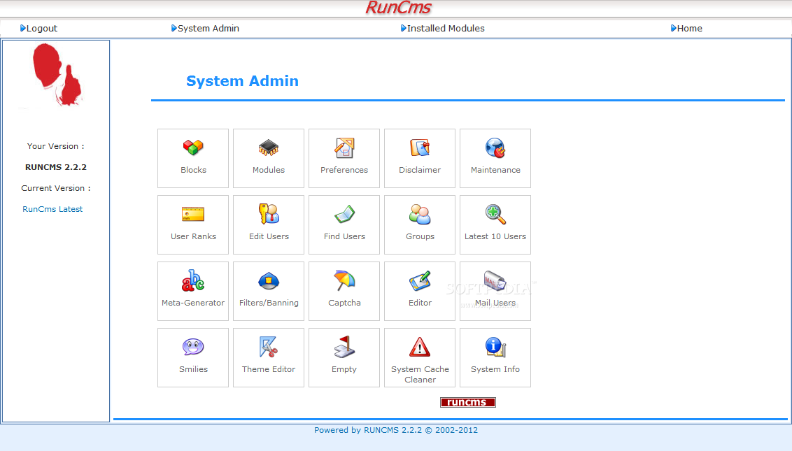 RunCMS Admin Dashboard