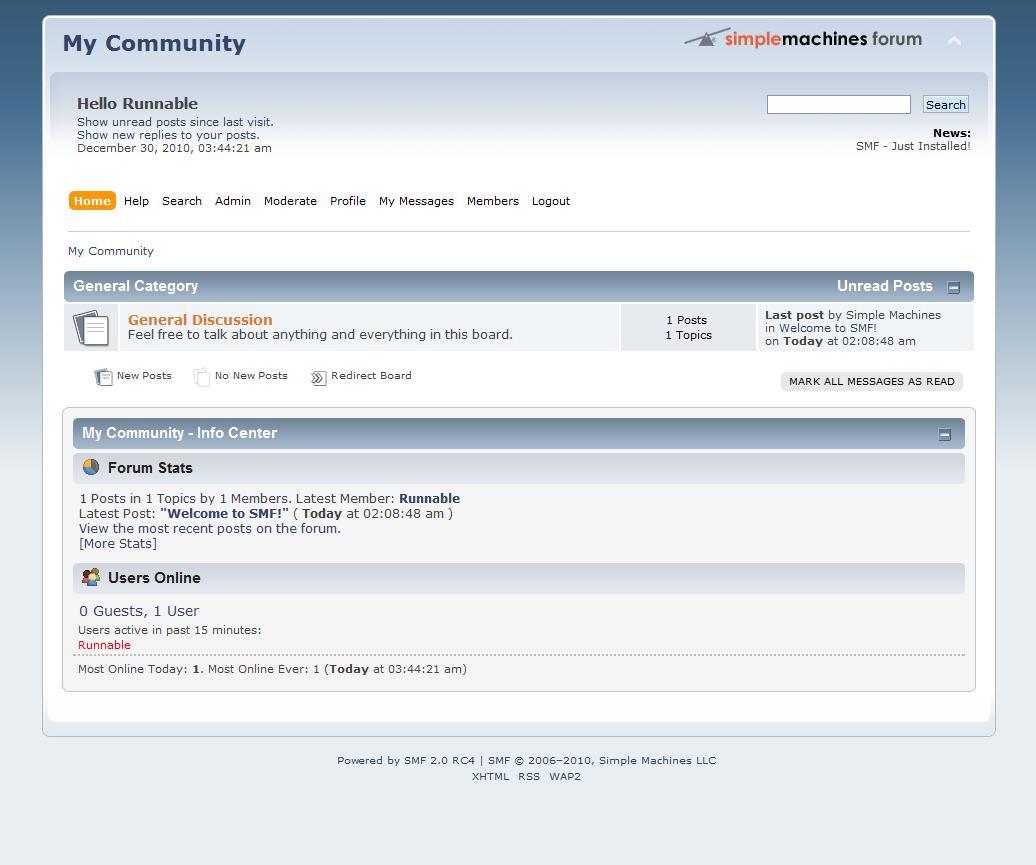Simple Machines Forum Demo Site » Try Simple Machines Forum