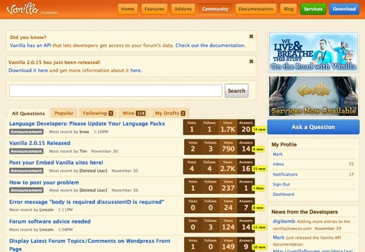 Vanilla Forums Theme Example
