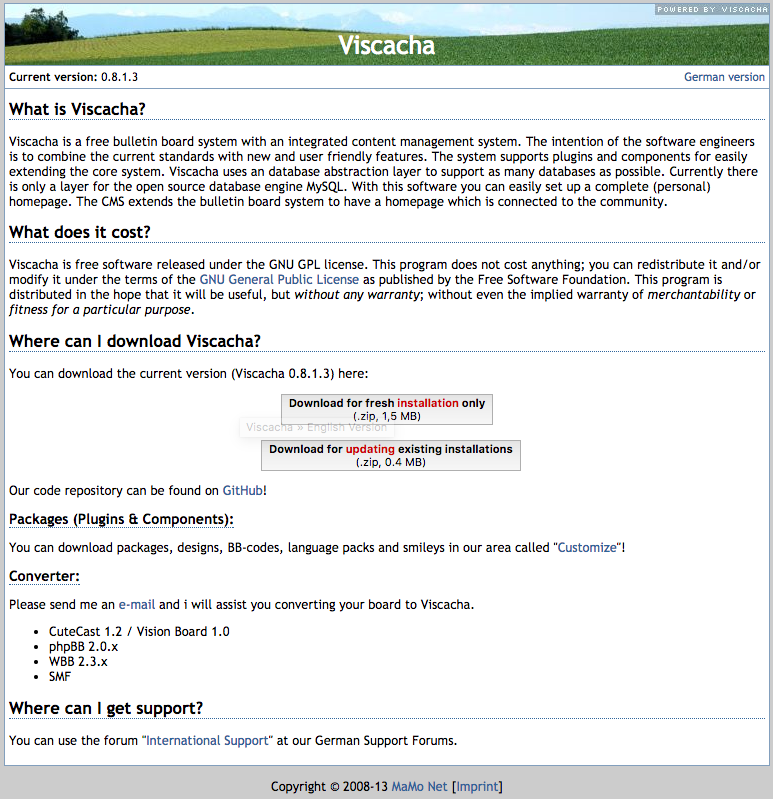 Viscacha demo preview