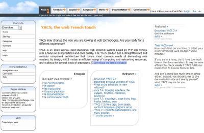 Yacs CMS Demo Site