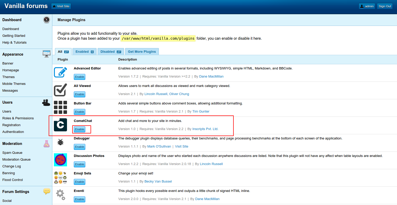 Vanilla Forums Demo Site » Try Vanilla Forums without
