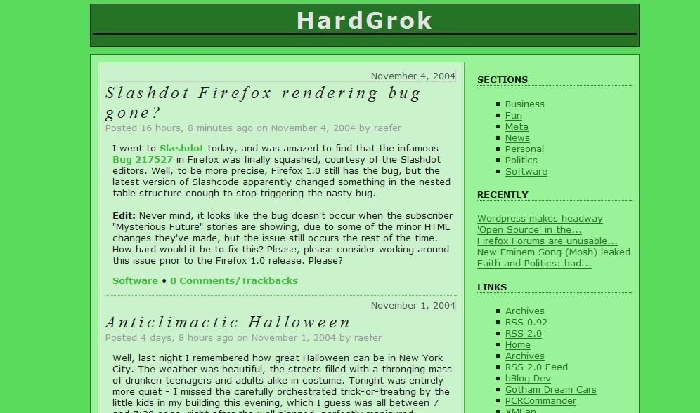 bBlog Theme Example