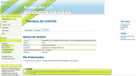 Yacs CMS Demo Site - Bonbon Skin
