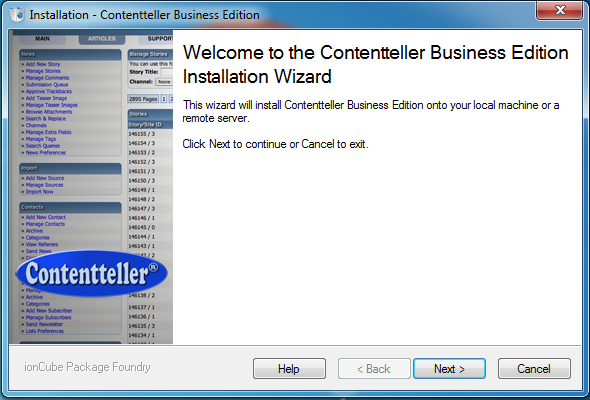 Contentteller Demo Installation