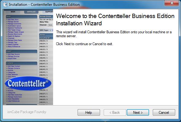 Contentteller Demo Installation