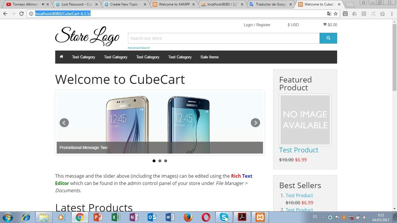 CubeCart Theme Example