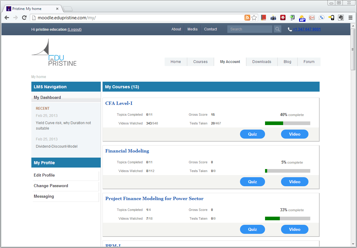 Moodle Dashboard Theme Example