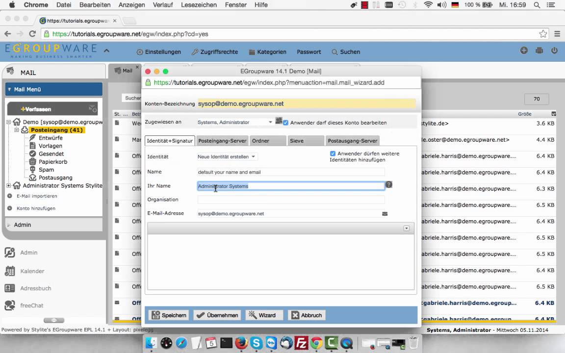 EGroupware 14.1 Email Management