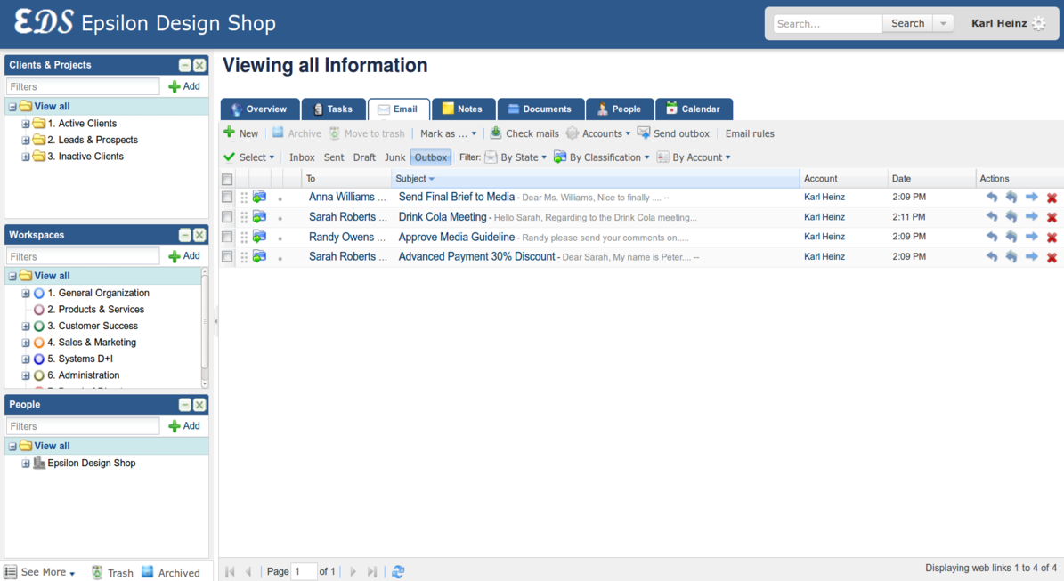 Feng Office Email Module