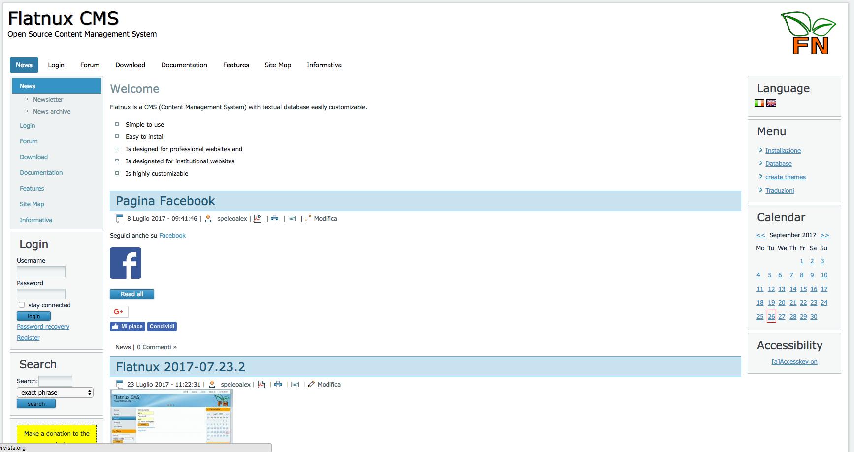 flatnux demo preview