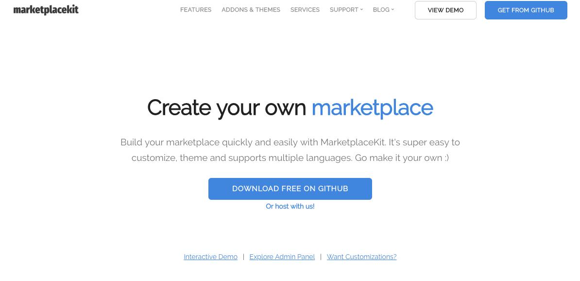 Free Marketplace CMS